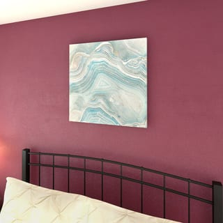 Carson Carrington 'Agate in Blue I' Premium Gallery Wrapped Canvas Wall Art