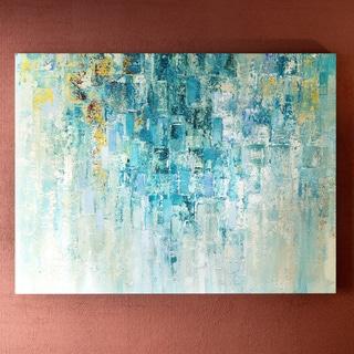 Porch & Den Home 'I Love the Rain' Multi-colored Gallery Wrapped Canvas