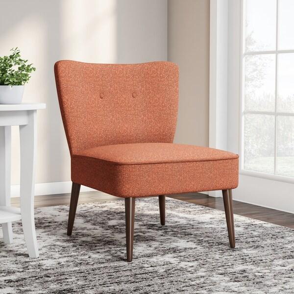 Porch & Den Los Feliz Cumberland Orange Armless Accent Chair