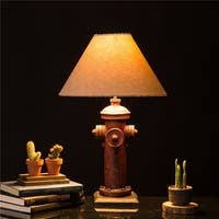 Glitzhome Polyresin Hydrant Table Lamp