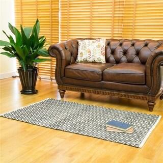 Glitzhome High-quality Chevron Pattern Heavy Wool Hand-woven Rug (3' x 5')