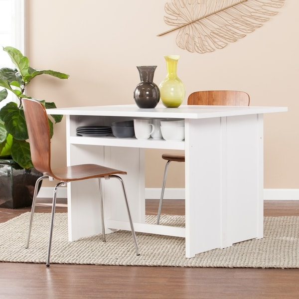 shop harper blvd kleberg white convertible console to dining table on sale free shipping. Black Bedroom Furniture Sets. Home Design Ideas