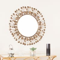 The Curated Nomad Lotta Antique Bronze Oversized Decorative Mirror