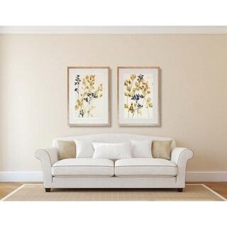 Jennifer Goldberger 'Watercolor Blossoms' Framed Art Print (Set of 2)