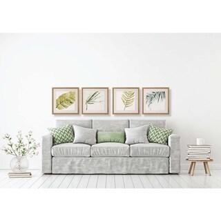 Art Virtuoso June Erica Vess 'Watercolor Green Leaf' Framed Art Prints (Set of 4)
