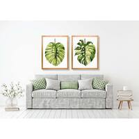 Art Virtuoso Grace Popp Folio Leaf Framed Fine Art Glicee Print (Set of 2)