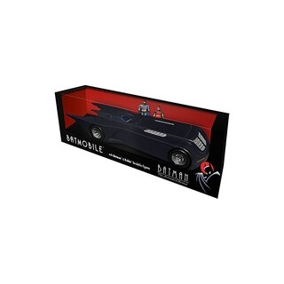 DC Comics Batman The Animated Series Batmobile Car w/ Batman & Robin Mini Bendable Figures