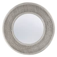 """Seahaven Weave Mirror 40"""" wide - Antique White"""
