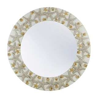 "Seahaven Starfish Mirror 30"" wide - White - Antique White - N/A"
