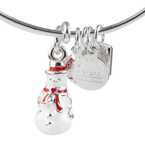 Alex and Ani Snowman Bracelet