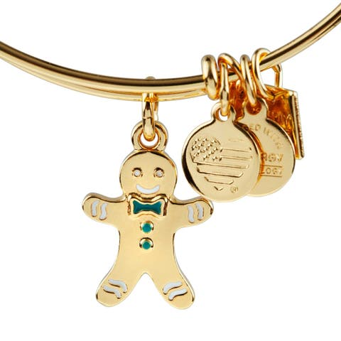 Alex and Ani Gingerbread Man Bracelet
