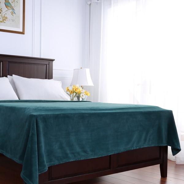 Berkshire Blanket PrimaLush Solid Color Bed Blanket