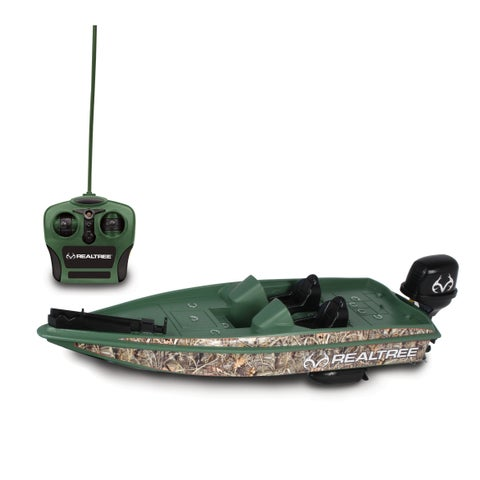 NKOK RealTree® Full Function Remote Control Bass Boat (RC)