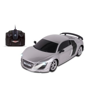 NKOK Luxe 1:24 Scale Radio Controlled Audi R8 GT (RC) - Colors Vary (Silver/Black)