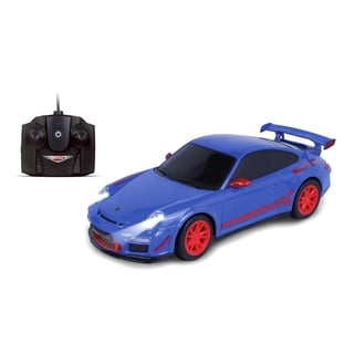NKOK Luxe 1:24 Scale Radio Controlled Porsche 911 GT3 RS (RC) - Colors Vary (Blue/Grey)