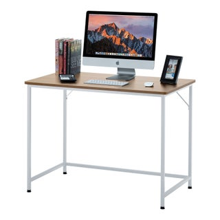 Fineboard Home Office Computer Desk Writing Table (Option: beige/white - Small)