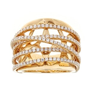 18K Yellow Gold Diamond Ring by Anika And August - White