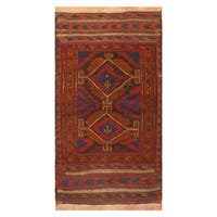Handmade Herat Oriental Afghan Hand-knotted Tribal Balouchi Wool Rug  - 2'7 x 5' (Afghanistan)