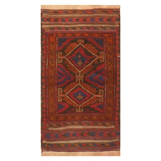Handmade Herat Oriental Afghan Hand-knotted Tribal Balouchi Wool Rug (Afghanistan) - 2'7 x 5'
