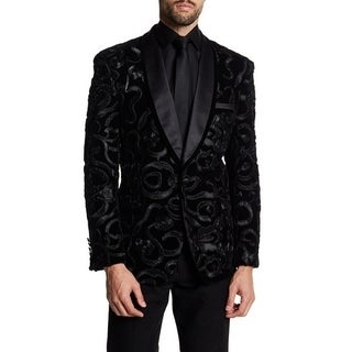 Shawl Collar With Desinged Velvet Men's Jacket