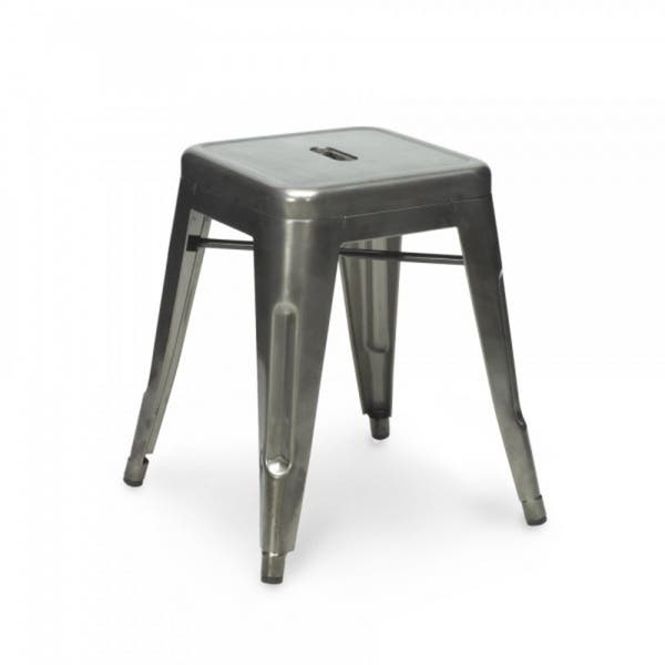 Strange Shop Industrial Clear Gunmetal 18 Inch Mini Backless Stool Caraccident5 Cool Chair Designs And Ideas Caraccident5Info