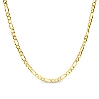 Pori Jewelers 14k Yellow Gold 2.5mm Hollow Figaro-link Chain Necklace