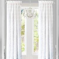 DriftAway Lily White Voile Sheer Window Curtain Panel Pair