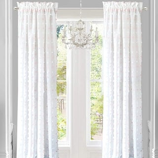 DriftAway Lily White Voile Sheer Window Curtain Panel Pair