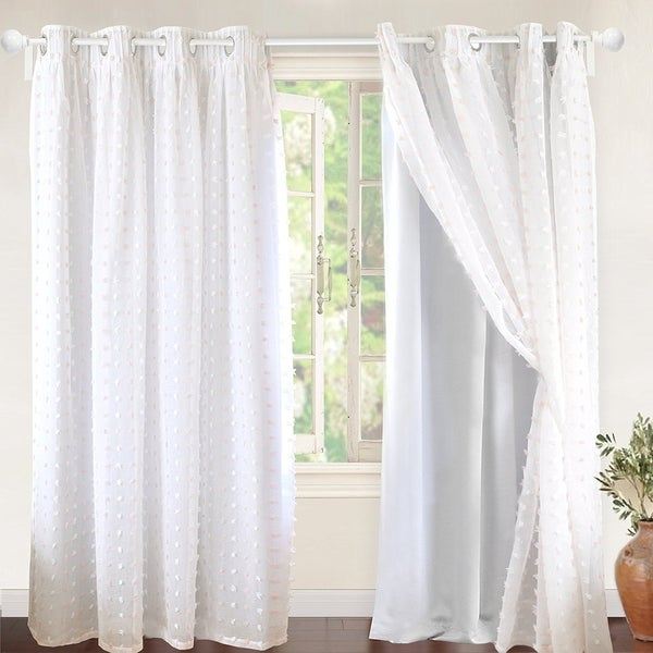 Shop Driftaway Lily White Voile Sheer Amp Blackout Curtain