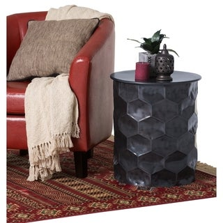 WYNDENHALL Kacey Contemporary 17 inch Wide Metal Storage Accent Side Table in Antique Bronze, Fully Assembled