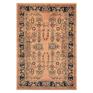 Handmade Herat Oriental Persian Hand-knotted Tribal Sarouk Wool Rug (Iran) - 3'7 X 5'2