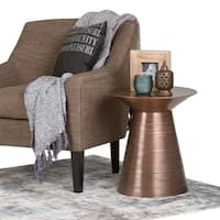 WYNDENHALL Bernhardt Metal Accent Table in Aged Copper