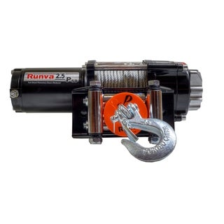 2500lb Runva ATV UTV 12V Towing Recovery Electric Winch Super Deluxe Package
