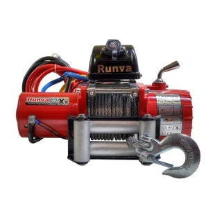 9500lb Runva Off-Road 12V Towing Recovery Electric Winch Kit W/ Short Drum