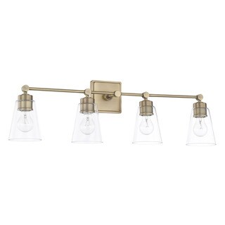 Capital Lighting Signature Collection 4-light Aged Brass Bath/Vanity Light (As Is Item)