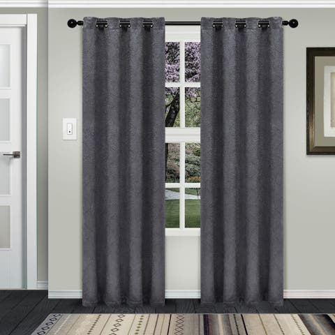 Superior Waverly Insulated Thermal Blackout Grommet Curtain Panel Pair