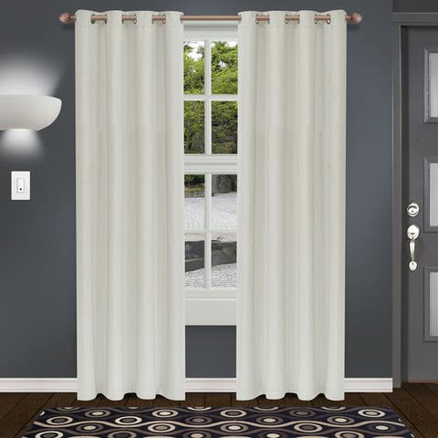 Superior Shimmer Insulated Thermal Blackout Grommet Curtain Panel Pair