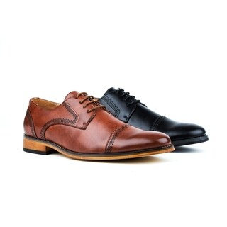 Gino Vitale Men's Cap Toe Oxfords Dress Shoes