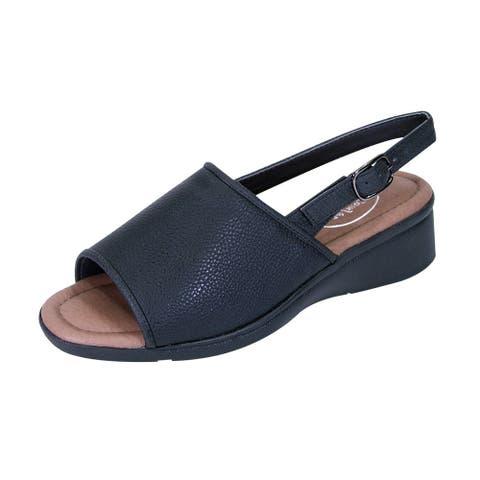 24 HOUR COMFORT Sally Women Extra Wide Width Open-Toe Slingback Sandal