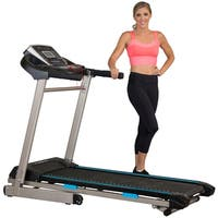 EXERPEUTIC TF3000 Electric Foldable Treadmill with Workout Settings - Black/Blue/Silver