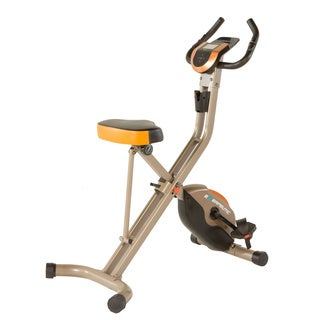 EXERPEUTIC GOLD 575 XLS Bluetooth Smart Folding Upright Exercise Bike - Black/Silver