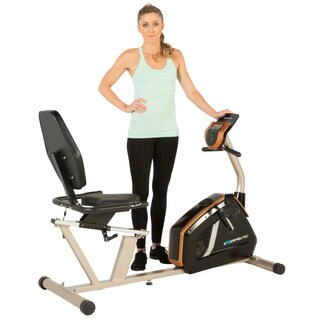 Exerpeutic GOLD 975XBT Bluetooth Smart Recumbent Exercise Bike - Silver