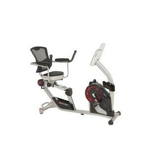 FITNESS REALITY X-Class 310SX Smart Recumbent Exercise Bike With App - Black/Red/Silver