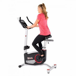 FITNESS REALITY X-Class 310 Upright Exercise Bike With Fitness App - Black/Red/Silver