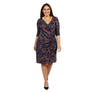 24/7 Comfort Apparel Starfire Plus Size Dress