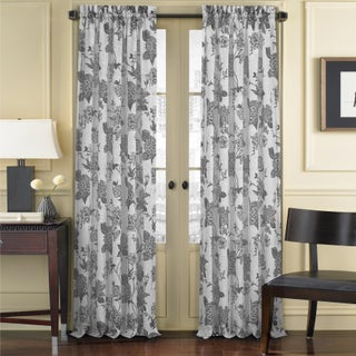 Five Queens Court April Floral Toile Window Sheer Curtain (More options available)