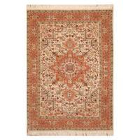Handmade Herat Oriental Persian Hand-knotted Tabriz Wool Rug - 3'4 x 5'1