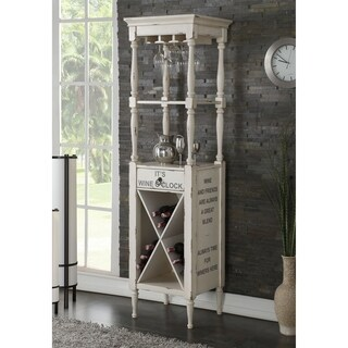 ACME Anthony Wine Cabinet in Antique White