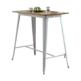 ACME Didac Bar Table in Natural and White