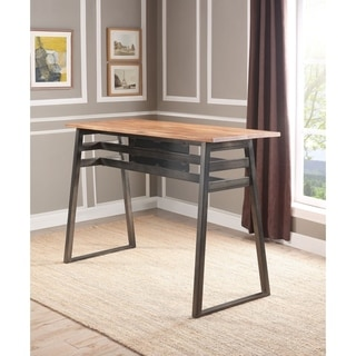 Shop Yukon Contemporary Bar Table In Stainless Steel And